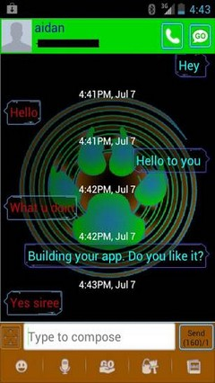 go sms pro aidans theme