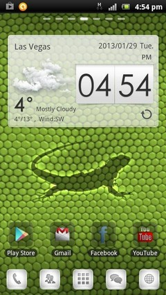 IGUANA Green Skin GO Launcher Theme