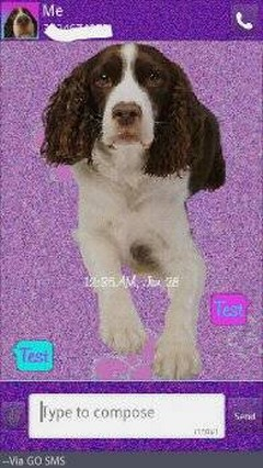 Luv You Puppy Dog Purple Go SMS