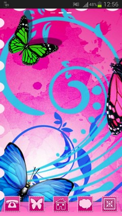 GO Launcher Theme butterflies