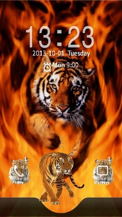 Tiger in Fire Locker
