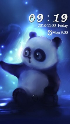 Cute Panda Bear Go Locker
