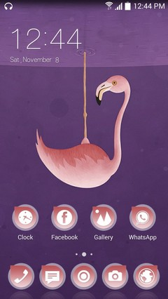 Flamingo CLauncher Theme