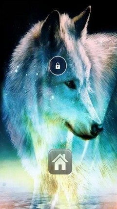 Beautiful Wolf Lock Screen