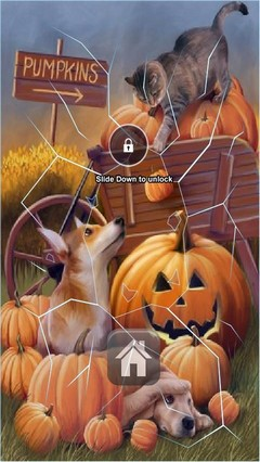 Cute Doggies Halloween Lock Screen