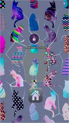 Colored Cats Lock Screen