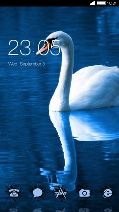 Beautiful Swan CLauncher Theme