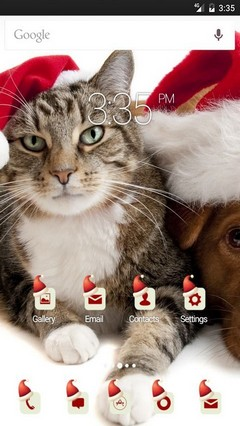 Christmas Cats Multi Launcher Theme