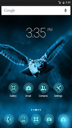 Night owl ADW Launcher Theme