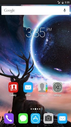 Close planet deer Apex Launcher Theme