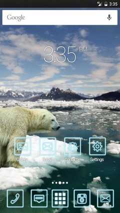 Bear polar ice snow ADW Launcher Theme