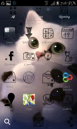 I Luv Cat Go Launcher Ex Theme LOT-31