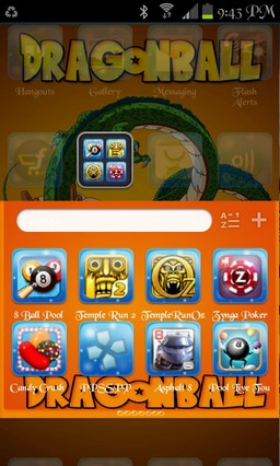 Dragonball go launcher theme