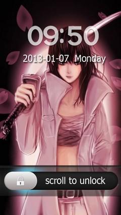 Aoi Kunieda Go Locker Theme for Android