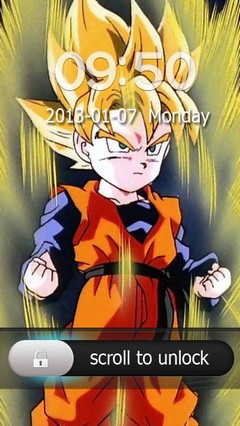 Goten Go Locker Theme for Android