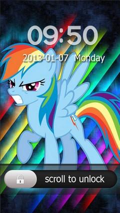 Rainbow Dash Go Locker Theme for Android