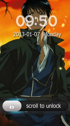 Roy Mustang Go Locker Theme for Android