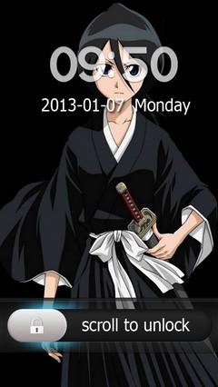 Rukia Kuchiki Go Locker Theme for Android