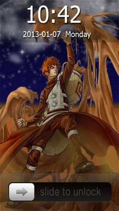 Gaara of the Desert Go Locker Theme for Android Phone