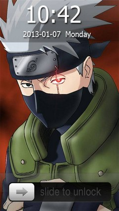 Kakashi Hatake Go Locker Theme for Android Phone