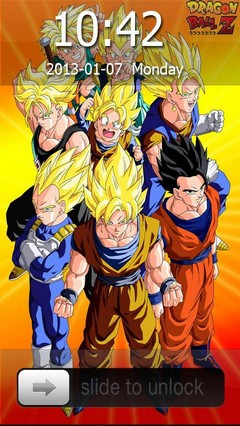Dragon Ball Z Go Locker Theme for Android Phones