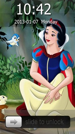 Princess Snow White Go Locker Theme for Android Phones