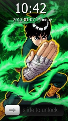 Rock Lee Go Locker Theme for Android Phones