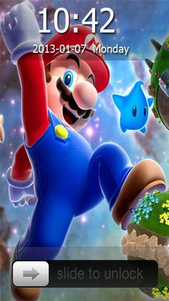 Super Mario Galaxy Go Locker Theme for Android Phone