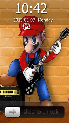 Super Mario Guitarist Go Locker Theme for Android Phone