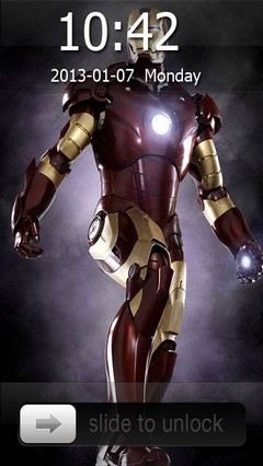 Iron Man Go Locker Theme for Android Phone