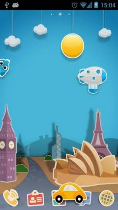 Super Papertown Theme GO Launcher Ex