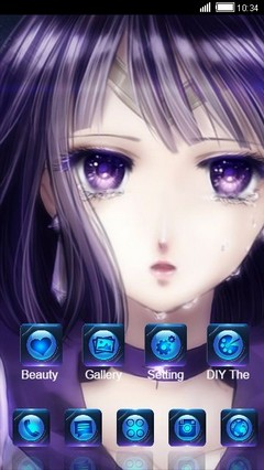 Sailor Saturn CLauncher Theme
