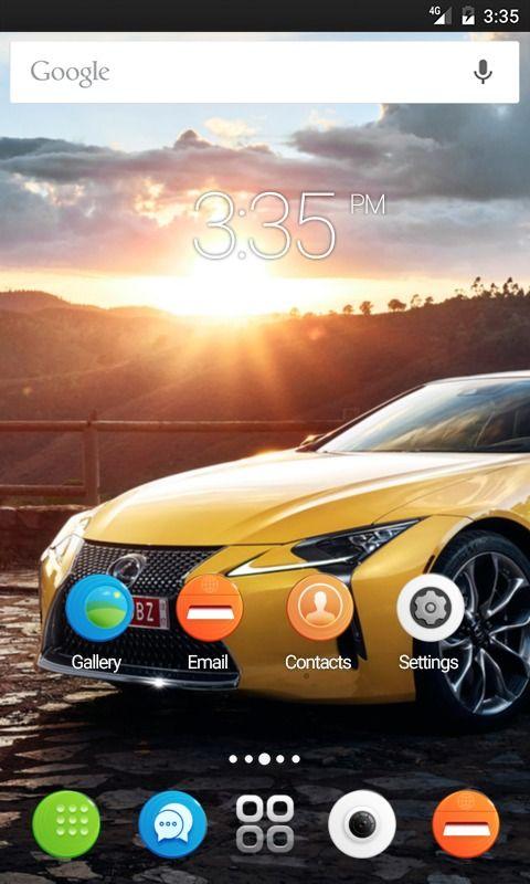 Yellow car view GO Launcher Theme