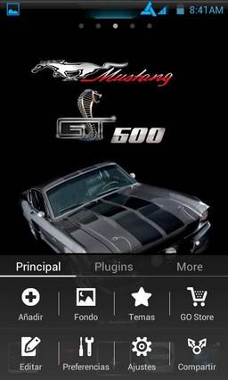 Mustang GT500 Eleanor Go Launcher