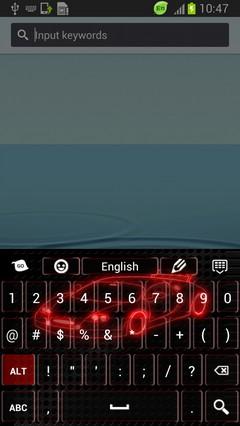 Neon Car Keyboard