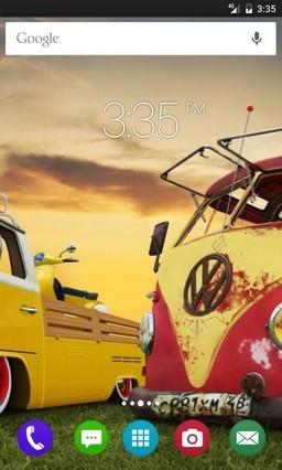 Colorful cars retro GO Launcher Theme