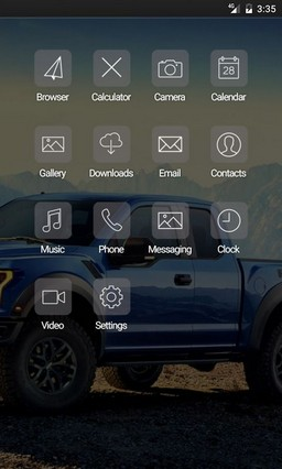 Car raptor blue Nova Launcher Theme