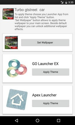Turbo gtstreet car ADW Launcher Theme