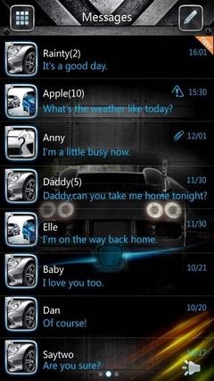 GO SMS PRO AiBlue ThemeEX