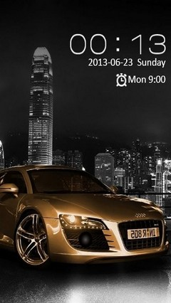 Audi R8 Gold Locker