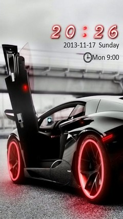 Black Lambo Go Locker