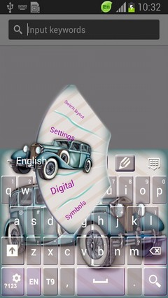 Vintage Car Keyboard