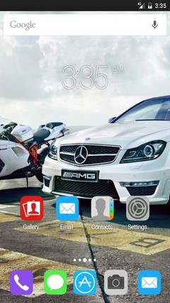 Car Mercedes Benz GO Launcher Theme