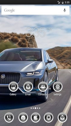 Electric sports car GO Launcher Theme