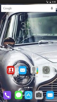 Car in the forest ADW Launcher Theme