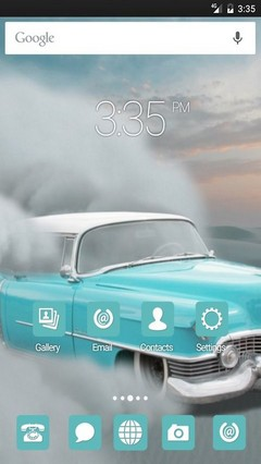 Car desert sand GO Launcher Theme