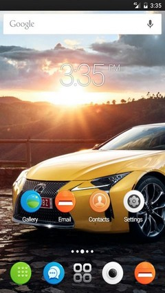 Yellow car view GO Launcher Theme
