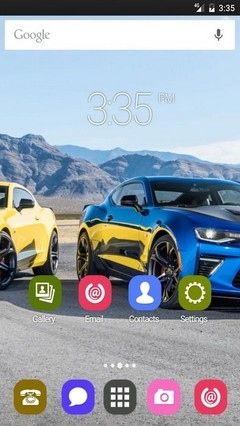 Cars in mountain Nova Launcher Theme
