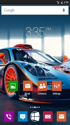 Sport car wide GO Launcher Theme