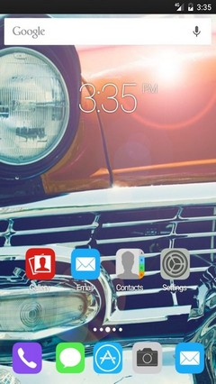 Cars vintage front headlight Apex Launcher Theme